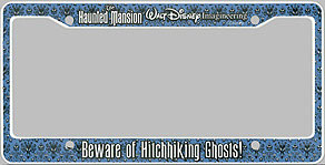 the haunted mansion walt disney imagineering beware of hitchhiking ghosts - Disney License Plate Frame