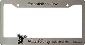 established 1952 walt disney imagineering - Mickey Mouse License Plate Frame