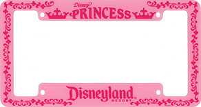 disney princess disneyland resort - Disney License Plate Frame
