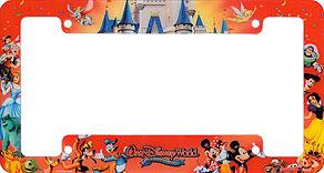 walt disney world celebrate everyday - Disney License Plate Frame