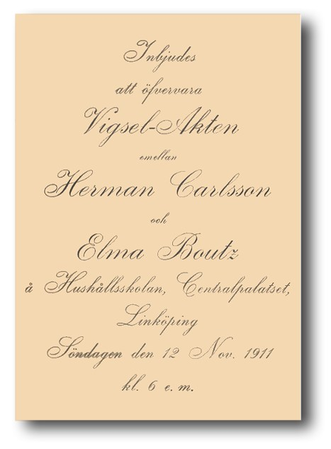 Herman & Elma's Wedding Invitation