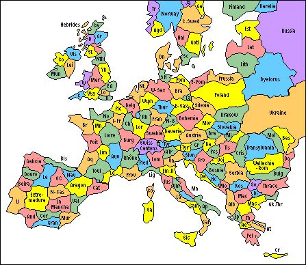 Map of Europe: Regions: Historic, Ethnic & Tribal