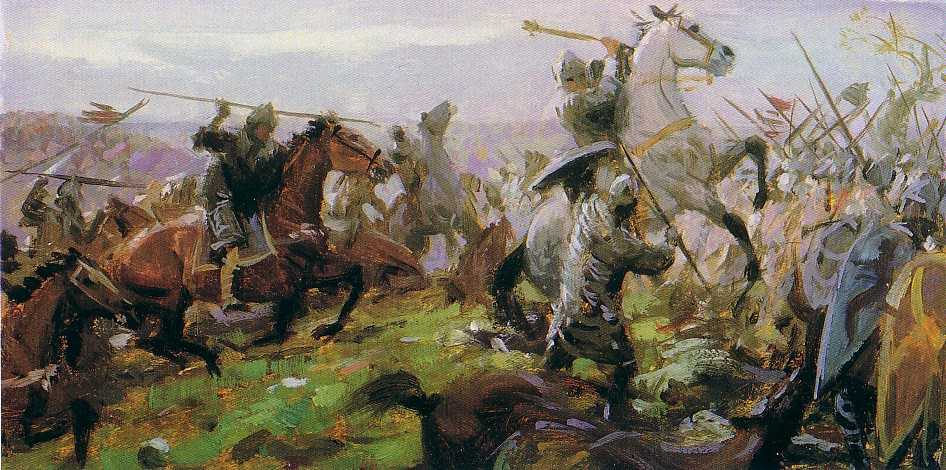 Tom Lovell S Painting Of The Battle Of Hastings