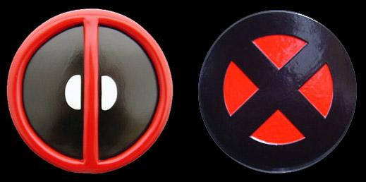 Custom Made Deadpool And X Men Logo Belt Buckles
