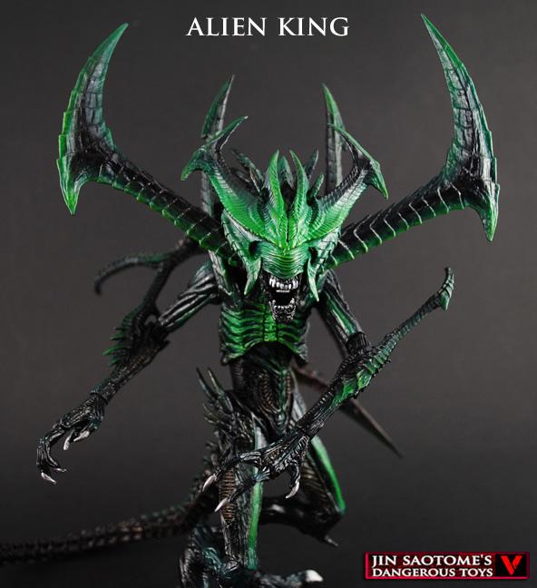 Custom King Alien, Kenner vintage style in NECA scale