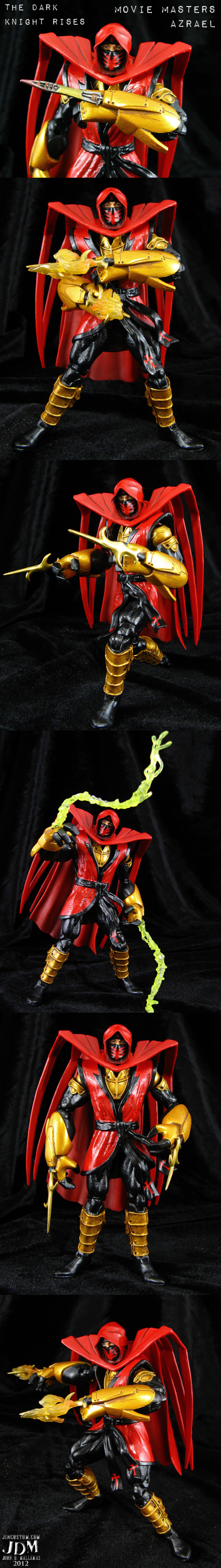 Custom Azrael batman figure