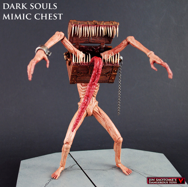 Love Each Other When Two Souls: Custom Dark Souls MIMIC CHEST Mythic Legions Fantasy Scale