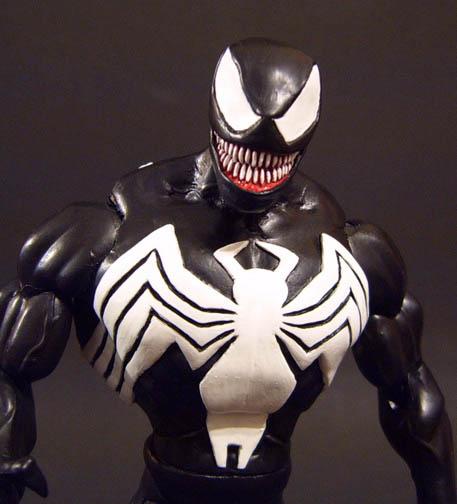Custom Mcfarlane Venom With Alt Eddie Brock Head Marvel Toy