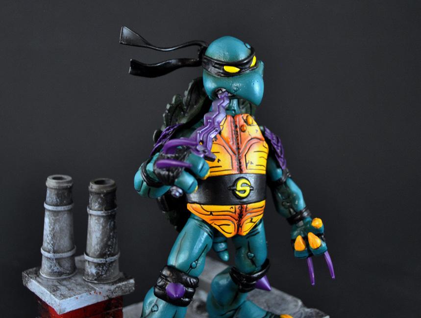 Where Can I Find Ninja Turtle Toys : Custom slash neca teenage mutant ninja turtles style figure