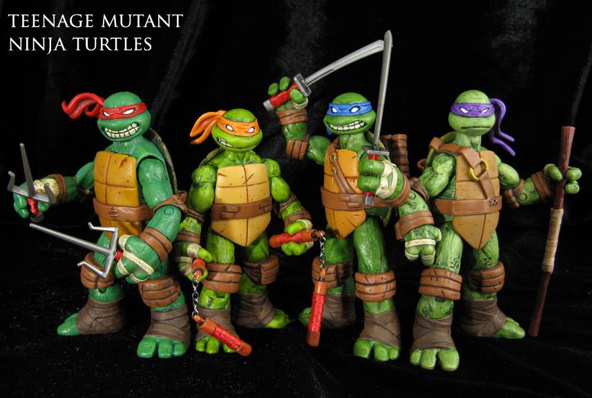 Custom Teenage Mutant Ninja Turtles figure set (TMNT 2012 Nicleodeon series) & Custom Teenage Mutant Ninja Turtles figure set (TMNT 2012 Nicleodeon ...