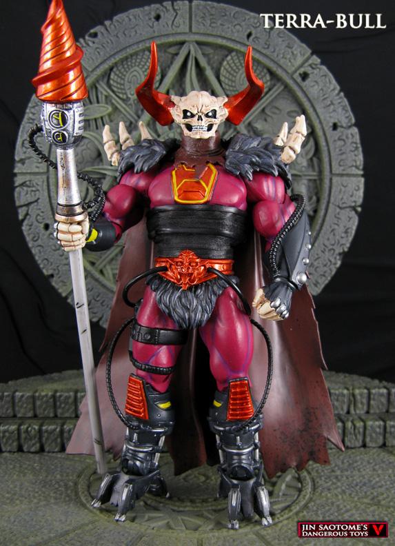 Battle For Terra Toys : King multarmo and terra bull motuc subternia custom figures