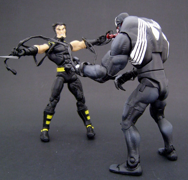 Venom Game Toy : Custom venom with bendy tendrils and base