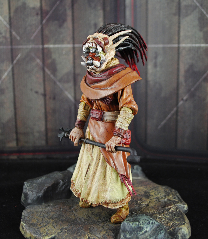 Custom Tusken Shaman Star Wars Black series figure from SWGOH!