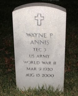 Annis World War Two Veterans M Z