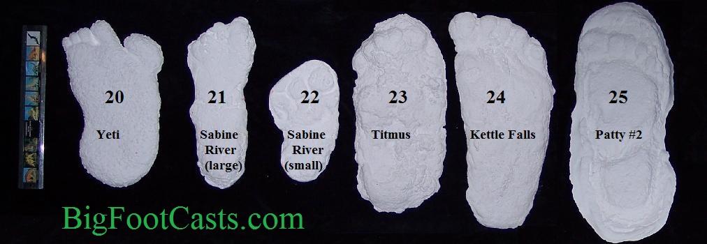 bigfoot casts replicas prints bigfoot sasquatch yeti footprint cast