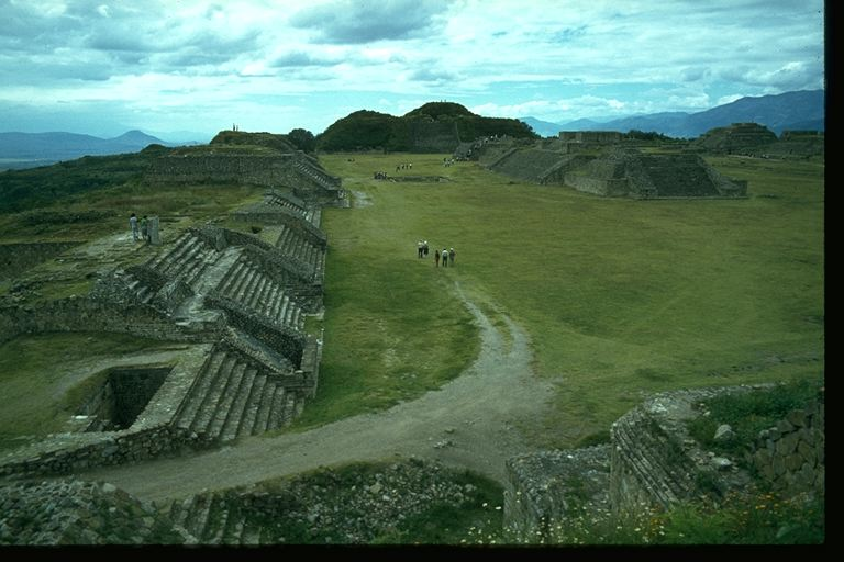 MONTE ALBAN'S MAIN PLAZA, Photo by Clive Ruggles