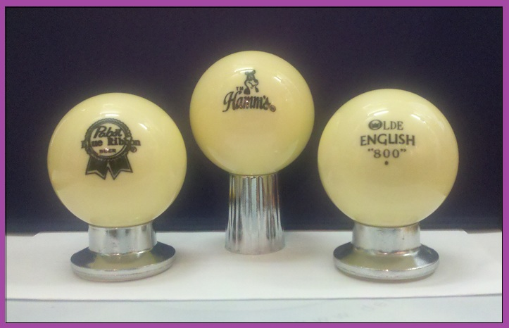 Hamm S Beer 3 Billiard Cue Balls With Beer Logos Ebay