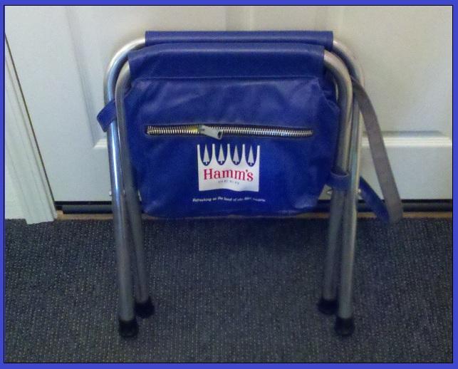 Hamm S Beer Vintage Combo Cooler Vinyl Folding Chair Ebay