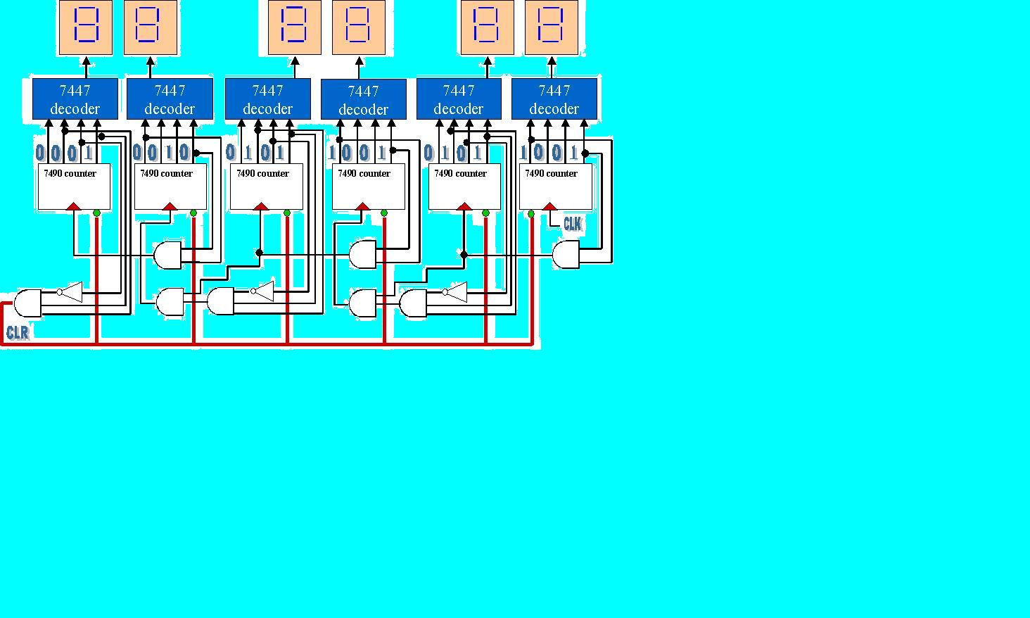 Untitled Document Binary Counter Circuit Diagram Using Ic 555 Timer 5