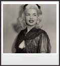 Another rare photo of Jayne. All rights reserved.