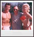 Jayne, Mickey and a friend by the pool. From a private collection. All rights reserved.