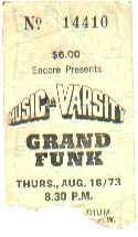 GFR '73 Ticket Stub