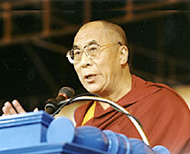 His Holiness, the 14th Dalai Lama of Tibet