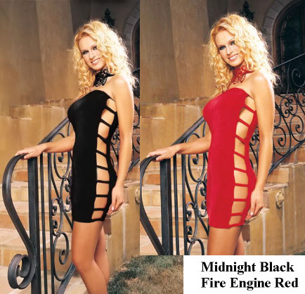 Tube Style Strappy Sides Mini Dress