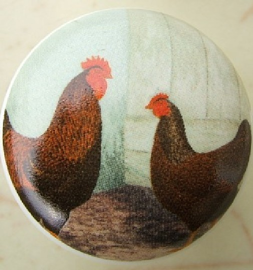 cabinet knobs Door pulls drawer pulls chickens roosters rooster ...