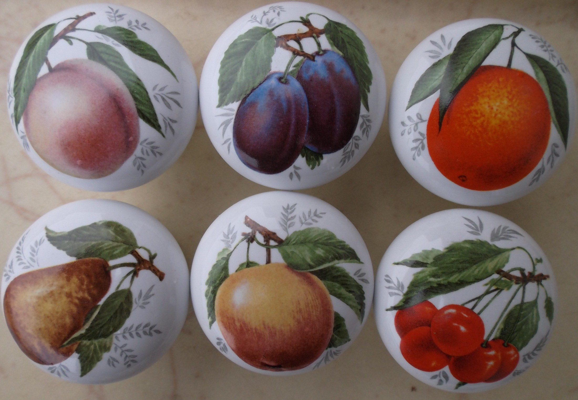 Ceramic Cabinet Knobs With Vegetables Amp Fruit