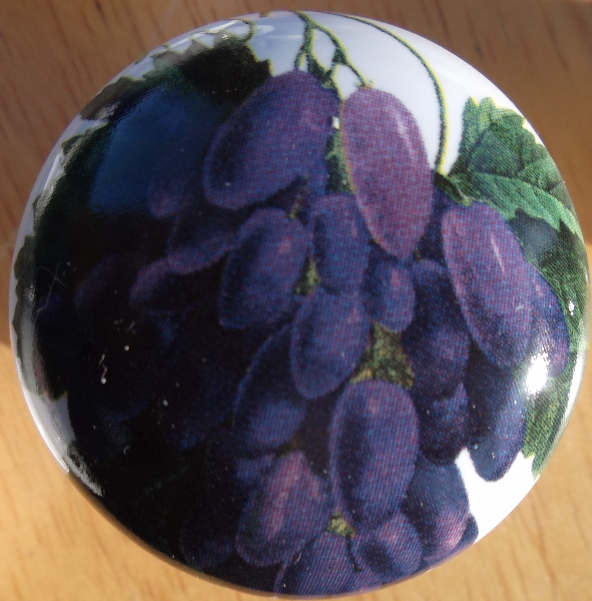 Ceramic Cabinet Knobs With Grapes wine bottles