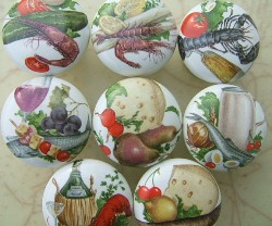 ceramic cabinet knob knobs vegetables vegatables carrot onion beet tomato lobster