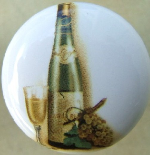 Kitchen Cabinet Handles Cork: Cabinet Knob Wine Bottle & Grapes