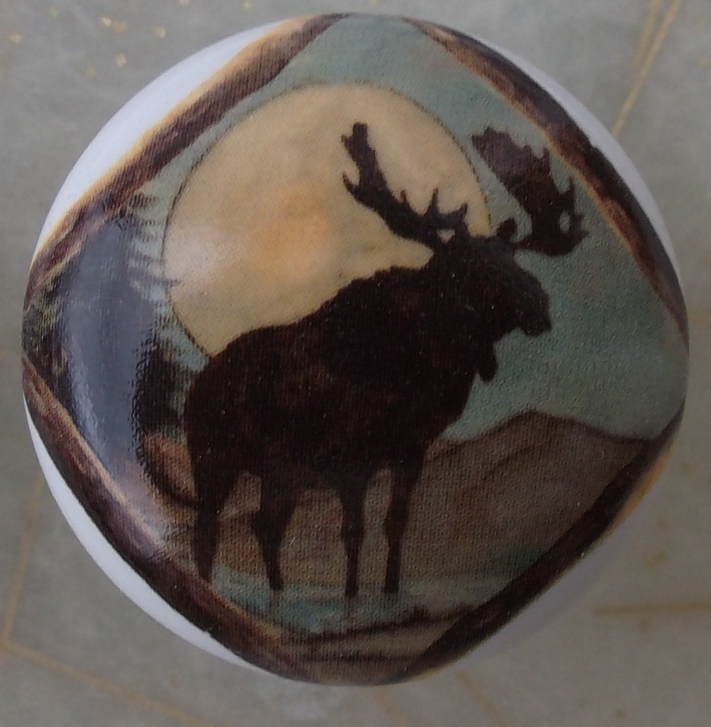 Ceramic Cabinet Knobs Wildlife Animal Fox Deer Elephant