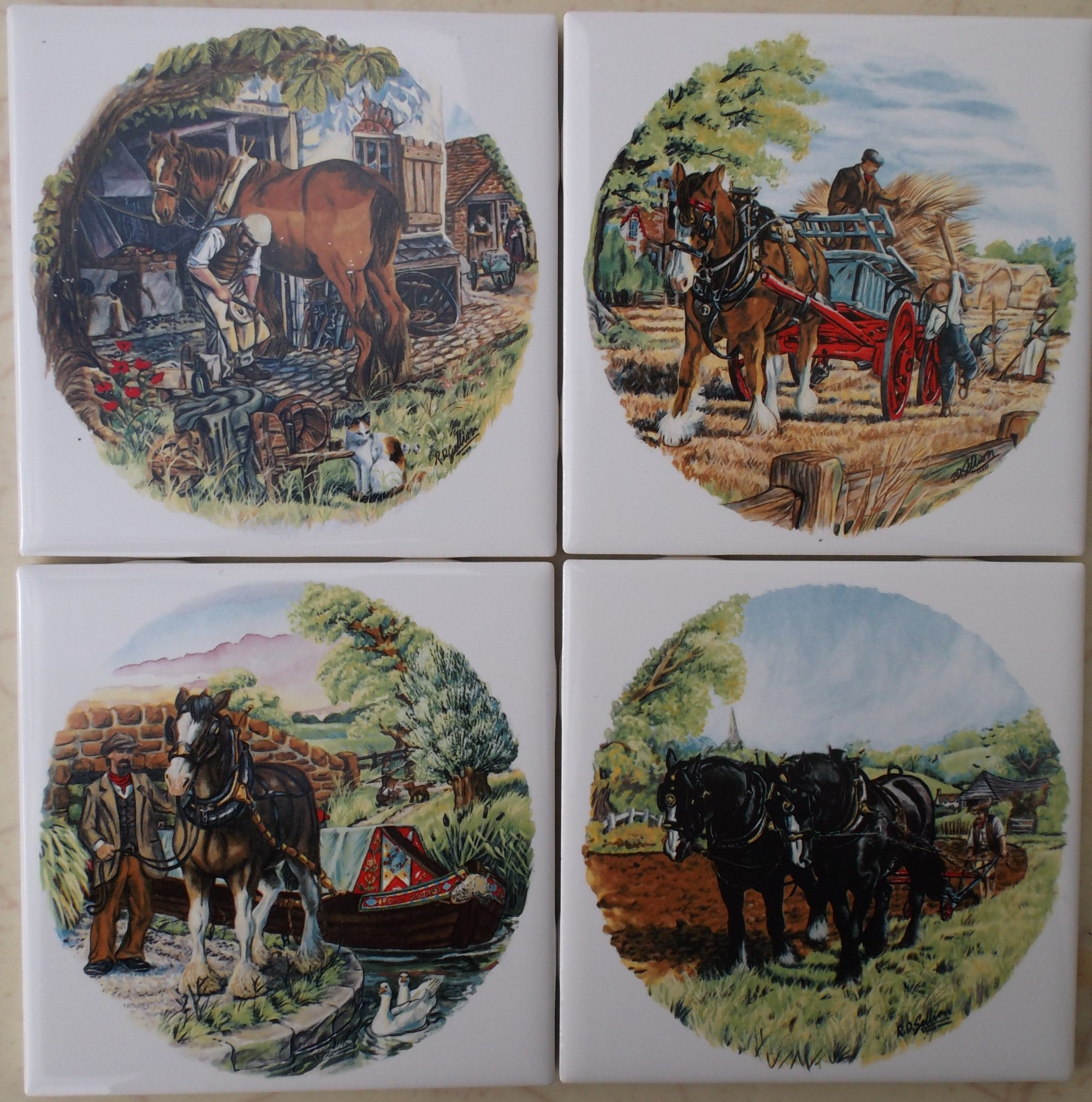 Ceramic tiles with horse images foxhunt fox hunt clydedalr arabian dailygadgetfo Image collections