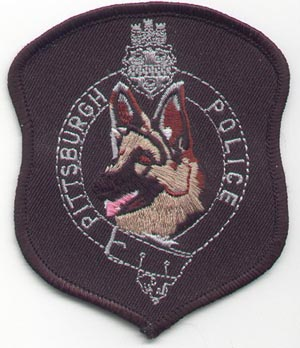 Pittsburgh P.D. K-9 patch