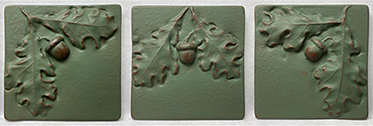 Acorns and Oak Leaves Leaf Tile Mural Set