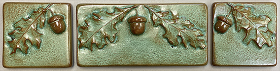 Acorns And Oak Leaves Leaf Fireplace Tile Set Click To Enlarge