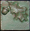 Arts & Crafts Acorn & Oak Leaf Tile Click To Enlarge