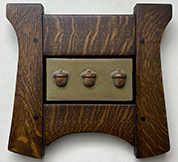 Framed Acorns Trio Tile Click To Enlarge