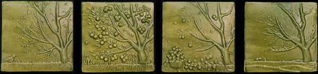 Arts & Crafts Handmade The Four Seasons Tile Mural