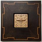 Honey Bee Framed Tile Click To Enlarge