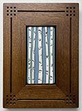 Birch Trees Framed Art Tile Click To Enlarge