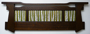 Birch Trees Tiles Framed Landscape Tile Set GrnGlzing
