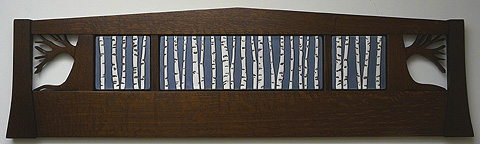 Birch Trees Tiles Landscape Set
