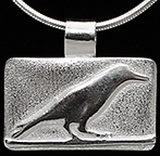 Bird On Branch Arts & Crafts Crow Silver Necklace