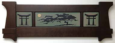 Bonsai Moon Cypress Tree Framed Tile Display Click To Enlarge