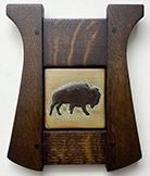 Framed Buffalo Bison Art Tile Click To Enlarge