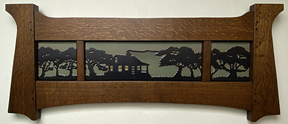 Cabinscape Framed Art Tile Triptych Display Click To Enlarge
