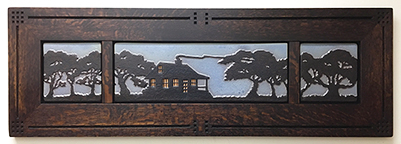Cabinscape Framed Tile Triptych Display Click To Enlarge